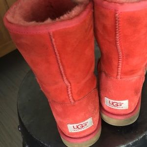Short Red UGGs size 9